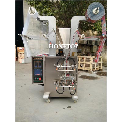 Customized 4-side sealing powder packaging machine running video