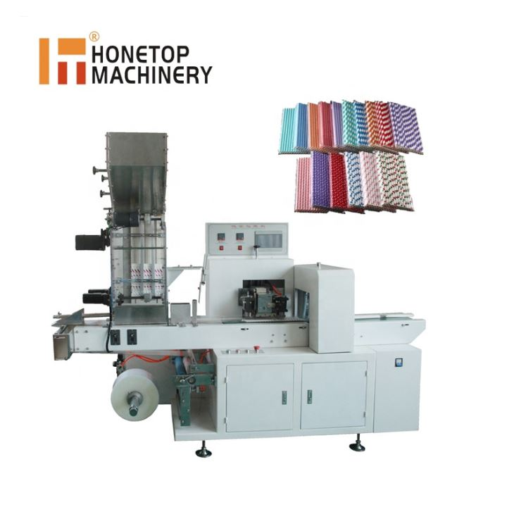 Bulk packing machine for wrapping paper straws