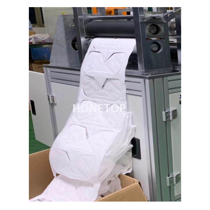 Foldable non woven N95 blank face mask machine