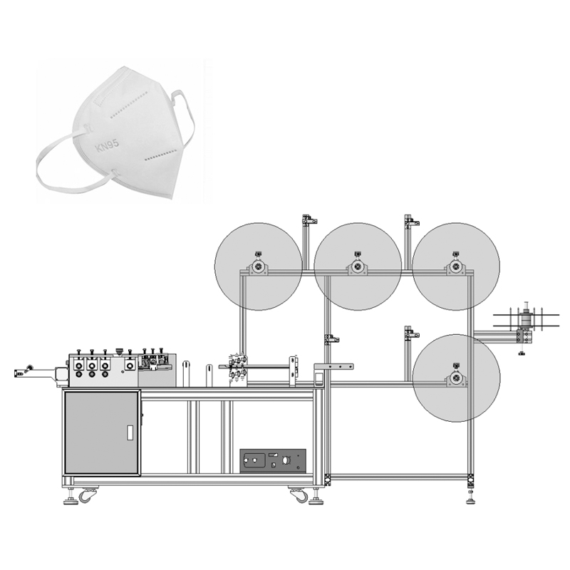Flat Medical N95 Face Mask Blank Making Machine